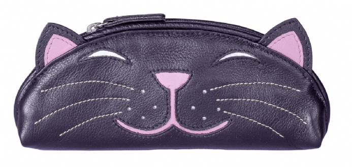 Rosie the Cat Leather Glasses Case